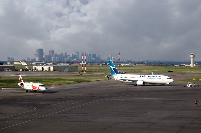 YYC Airport is a hub for Air Canada, Air Transat, Sunwing Airlines and Westjet.